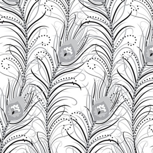 The Gift Wrap Company Deluxe Quality Gift Wrap Roll, Feather Luxe