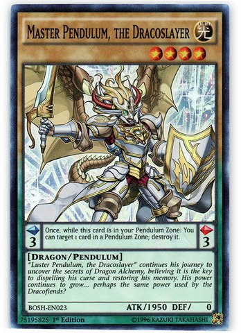 Yu-Gi-Oh! - Master Pendulum, the Dracoslayer (BOSH-EN023) - Breakers of Shadow - 1st Edition - Super Rare (Yugioh Cards Master compare prices)