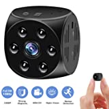 Hidden Camera,Mini Spy Cam-1080P HD With Night Vision And Motion Detection,Built-in Magnetic&Wearable,Video Surveillance Camera For Indoor/Outdoor Security,Perfect Nanny Cam,Copcam For Home,Car,Office (Color: Black, Tamaño: mini)