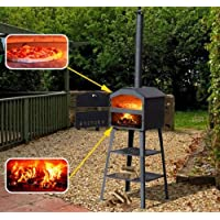 Outsunny 01-0333 Outdoor Garden Pizza Oven BBQ Barbecue Grill (Black)
