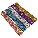 New Set Of 5 Wooden Incense Sticks Holder Stand Lac Item Beaded Glitter Work