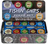 FISHIN' CHIPS - Freshwater - 200 CLAY CHIPS POKER SET