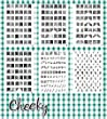 New Bundle of 6 Nail Art Jumbo Image Plates Stamps (X1) 331 Designs by Cheeky�