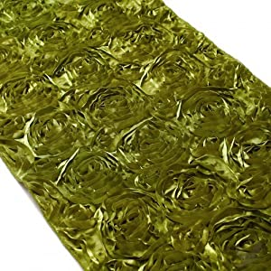 Koyal 15 by 116 inch satin rose embroidered for Table runners 52 inches