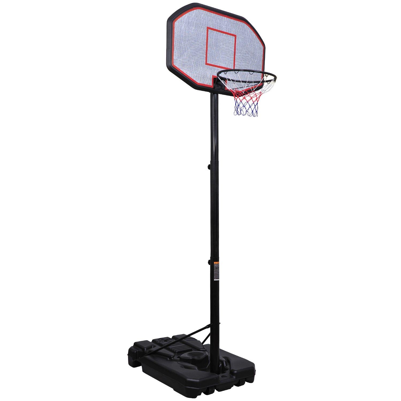 Aosom 10' Adjustable Height Indoor / Outdoor Portable Basketball Hoop at Sears.com
