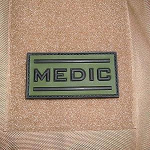 3 D rubber patch uS army-mEDIC airsoft le personnel infirmier médecin ersthelfer kSK combat tactical armée utilisation iD noir/vert 2,5 x 5 cm#17042