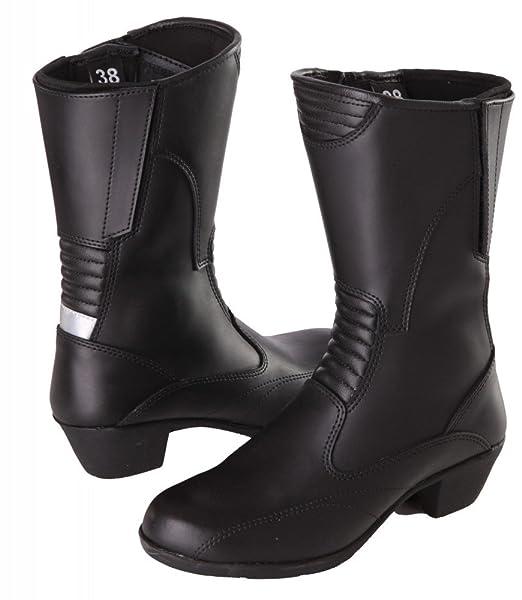 Modeka lADY fIONA pour femme cuir bottes de moto noir