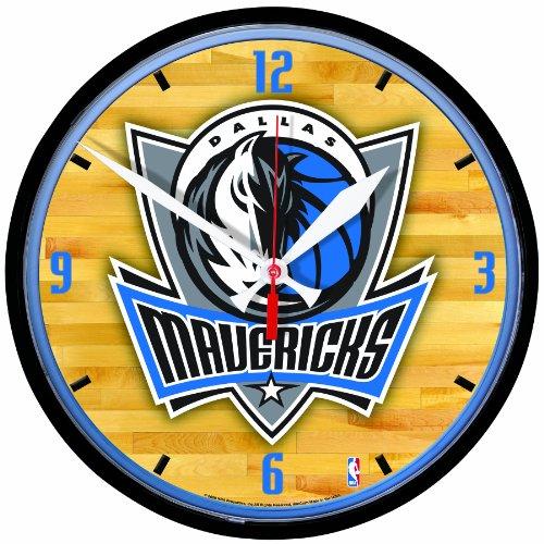 NBA Dallas Mavericks Round Clock