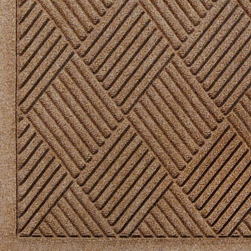 Andersen 221 Waterhog Fashion Diamond Polypropylene Fiber Entrance Indoor Floor Mat, SBR Rubber Backing, 6 Length x 6 Width, 1/4