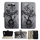 Tree Skull Samsung Galaxy S3 S III I9300 Sgh-t999 Sgh-i747 Sch-i535 Sch-s960l S968c Android Smartphone (Tmobile , Verizon, At&t,net 10 Straight Talk, Tracfone) Accessory Pu Leather Wallet Flip Protective Skin Case Cover with Stand with Credit Card Slots & Holder