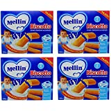 Mellin Biscotto in Mini Confezioni Salvaspazio - 360 Gram - 4 Packages
