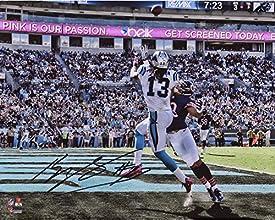 Kelvin Benjamin Carolina Panthers Autographed 8'' x 10'' TD Catch Jump vs. Chicago Bears Photograph - Fanatics Authentic Certified