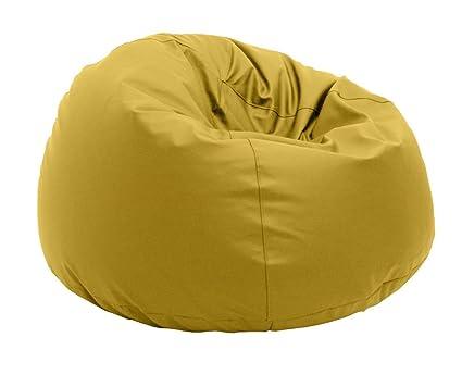Pouf Comfortline Pompelmo poliestere impermeabile per esterni XL 95x 65cm, giallo
