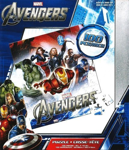 Marvel Avengers Puzzles Thor, Hawkeye, Captain America 100 piece Jigsaw - 1