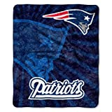 "NFL New England Patriots 50-Inch-by-60-Inch Sherpa on Sherpa Throw Blanket ""Strobe"" Design image"