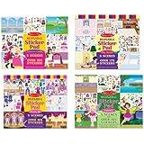 Melissa & Doug Reusable Sticker Pad Bundle contains Fairy, Princess, Dress-Up and Play House
