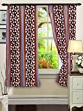 "Cenizas Fancy Polyster Window Curtain Set of 2 - 60""X48"", - Brown (CURT-N0008)"