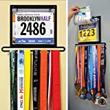 Gone For a Run BibFOLIO Plus Race Bib and Medal Display - Black - Wall Mounted - Displays up to 24 medals and 100 race bibs