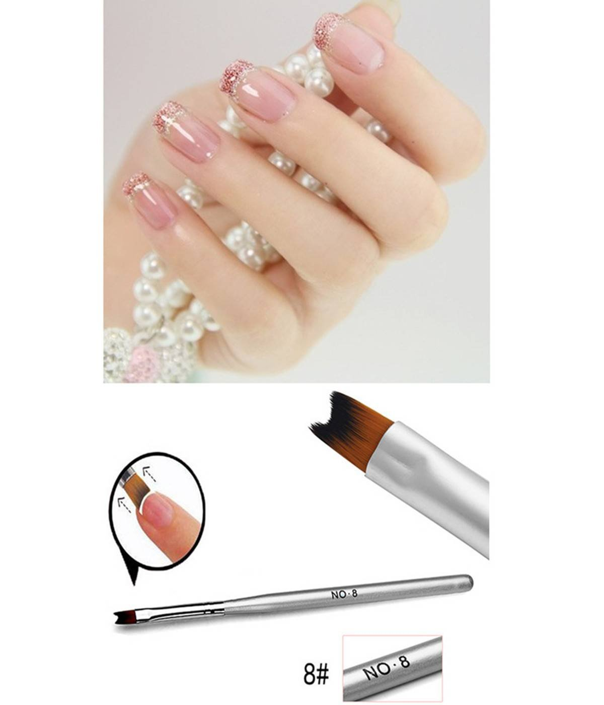 Dancingnail Professional Nail Painting Drawing Acrylic French Makeup Cosmetic Manicure Phototherapy Pen Brush Tool