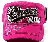Fashion Cheer MOM Rhinestone Cadet Caps - Hot Pink