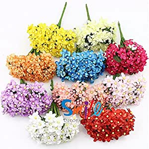 Buy 12pieces artificial plum stamen berry flower fake for Artificial flowers for home decoration india
