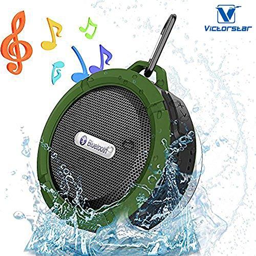 VICTORSTAR@ Bluetooth Senza fili 3.0 Impermeabile All'aperto & Altoparlante Doccia con 5W Altoparlante / Aspirazione Tazza / Mic / Mani Libere Altoparlante ( Esercito Verde)