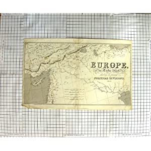 Amazon.com: ANTIQUE MAP EUROPE POLITICAL DIVISIONS 1828 LOWRY ...