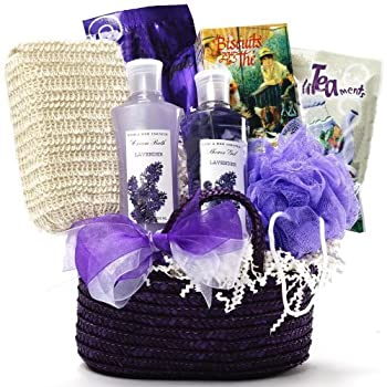 Set A Shopping Price Drop Alert For Art of Appreciation Gift Baskets Tranquil Delights Lavender Spa Bath and Body Tote