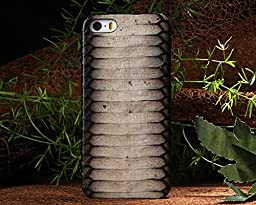 Iphone 5S Case,E-Age Luxury Genuine Snake Skin Leather Case Hard-Shell Cover for iPhone 5/5S (A6)