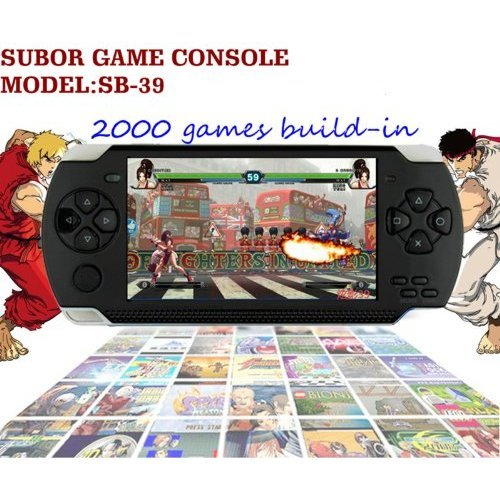 SUBOR SB-39 4GB 4.3 Inch PSP Style Game MP3/MP5 Player with Camera and DV(2000games biuld-in)