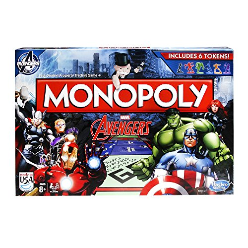 Hasbro B0323 – Monopoly – Marvel Avengers – Brettspiel (Englische Variante) [UK Import]