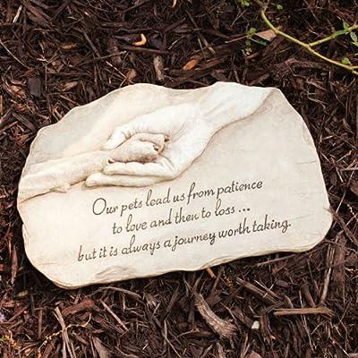Evergreen Enterprises Paw in Hand Devotion Garden Stone