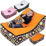 Monsieur Bébé ® Hamaca Puf para bebé + 2 asientos + 2 bolsillos de almacenamiento + Asa de transporte - Modelo Baby Pouf - Tres colores - Norma NF EN12790