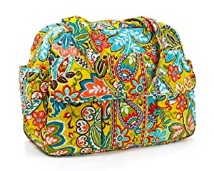 vera bradley baby bag in blue lagoon diaper tote bags baby. Black Bedroom Furniture Sets. Home Design Ideas
