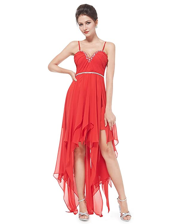 Ever Pretty Sexy Asymmetric Hem Rhinestones Party Dress 08345