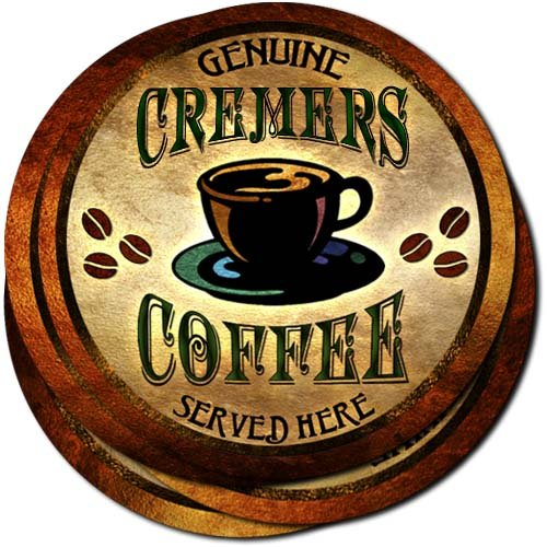 Cremers Coffee Neoprene Rubber Drink Coasters - Set of 4 (Coffee Cremer Set compare prices)