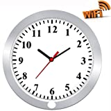 Hidden Camera in Wall Clock TenGong Spy Wall Clock WiFi Hidden Cameras 1080P Video Recorder Wireless IP Camera for Indoor Home Security Monitoring Nanny Cam with Motion Detection