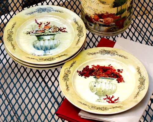 French Country Ceramic Dessert or Wall Plates Set of 4 & french country dinnerware: October 2011