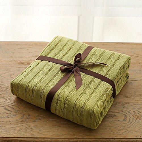 BDUK Twist, Blanket coperte in maglia di cotone coperte e spesso bambini aria condizionata e coperte dal pomeriggio di estate bambini coperta ,180cmx200cm, colori vaniglia