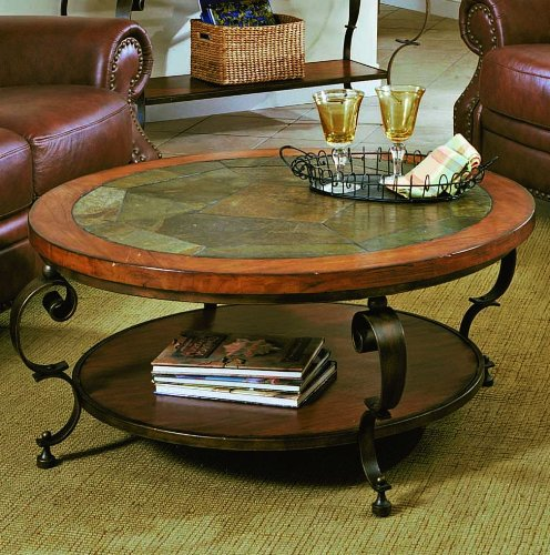 Buy Low Price Black Round Coffee Table With Slate Top B0017lubeg Coffee Table Bargain