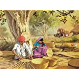 "Dolls Of India ""Basket Weavers"" Reprint On Paper - Unframed (29.21 X 23.50 Centimeters)"
