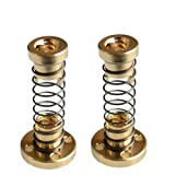 WINGONEER 2pcs T8 Anti backlash Spring Loaded Nut Elimination Gap Nut for 8mm Acme Threaded Rod Lead Screws