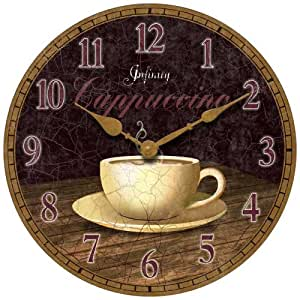 Infinity Instruments Dreamy Cappuccino Wall Clock Home Kitchen