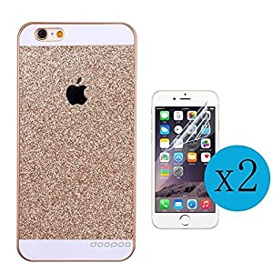 Iphone 5/5s Case, doopoo TM Luxury Beauty Diamond Shiny Sparkling Glitter with Crystal Rhinestone Pc Hard Case Cover for Iphone 5/5s (iphone 5/5s, Gold) from doopoo TM