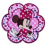 ミノダ ミニーマウス小花柄ワッペン大 アイロン・シール両用 お花-大 D01Y5946