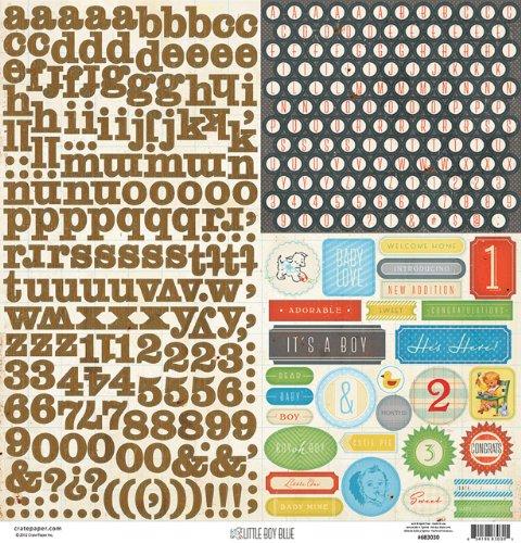 Crate Paper - Little Boy Blue-Alpha Labels