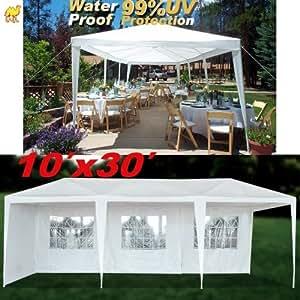 Amazon.com: STRONG CAMEL Wedding Party Tent 10x30 White Gazebo Canopy