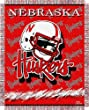 "Nebraska Cornhuskers Triple Woven Jacquard NCAA Throw (017 Focus) (48x60"")"""