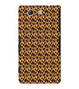 Abstract Floral 3D Hard Polycarbonate Designer Back Case Cover for Sony Xperia Z4 Mini :: Sony Xperia Z4 Compact