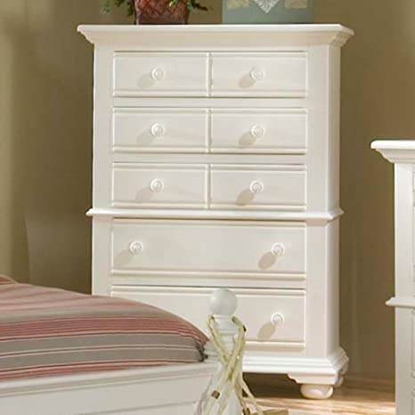 Cottage Traditions 5 Drawer Chest - Eggshell White